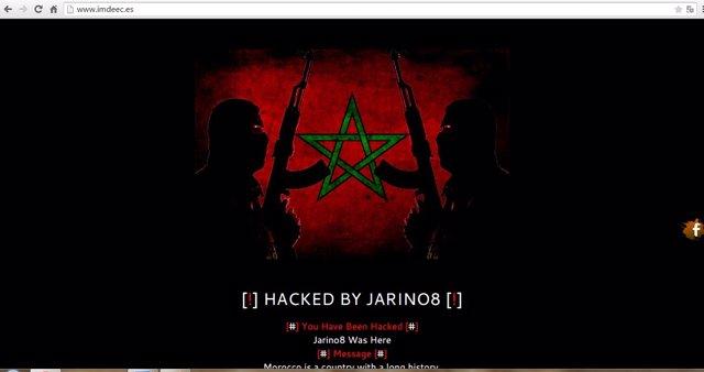 Página web del Imdeec 'hackeada'