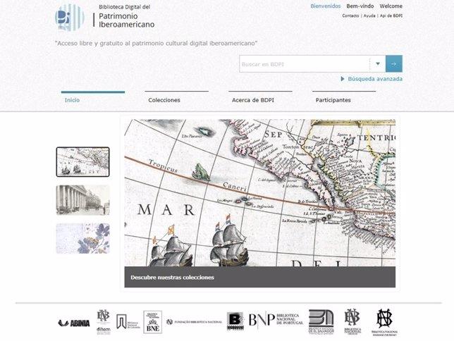 Captura Biblioteca Digital del Patrimonio Iberoamericano (BDPI)