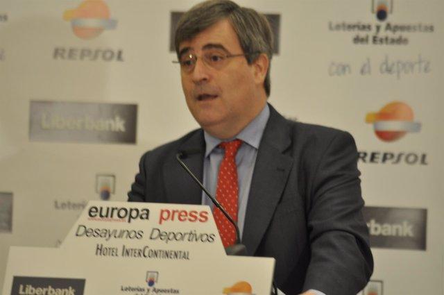 Miguel Cardenal en los Desayunos Deportivos de EP