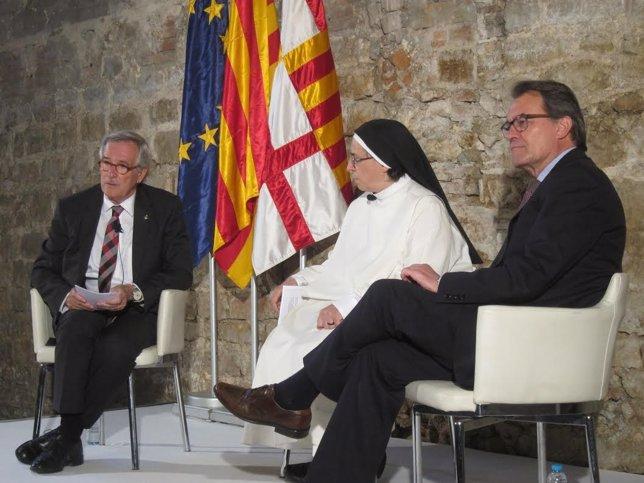 Xavier Trias, Artur Mas y Lucía Caram