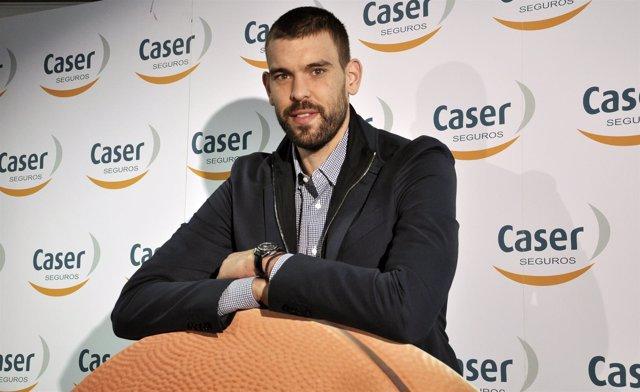 Marc Gasol, rueda de prensa en Caser