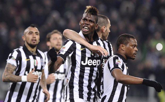 Juventus Paul Pogba Vidal Marchisio Bonucci Evra