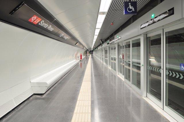Estación De Santa Rosa De La L9 Del Metro