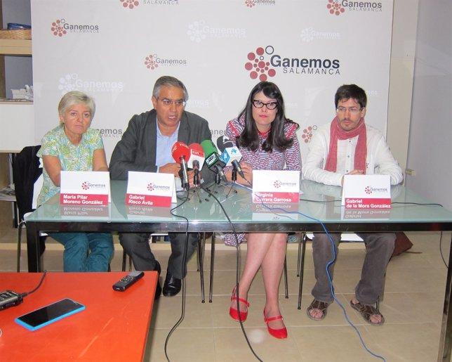 Los 4 integrantes de Ganemos en el Ayto de Salamanca