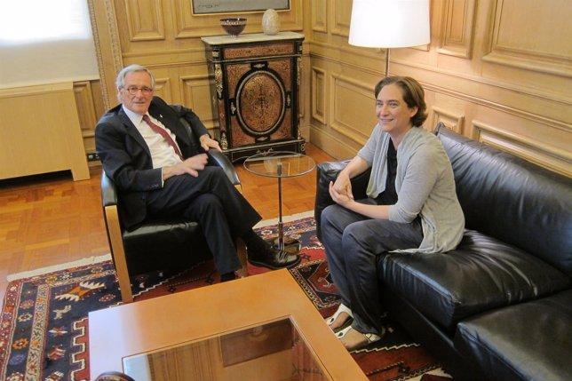 Xavier Trias (CiU) se reúne con Ada Colau (BComú)