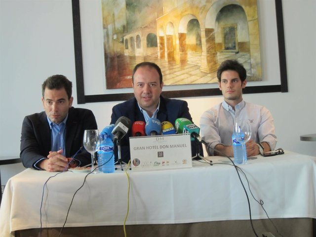 Cayetano Polo, Antonio Ibarra y Víctor Peguero, concejales electo de C's Cáceres