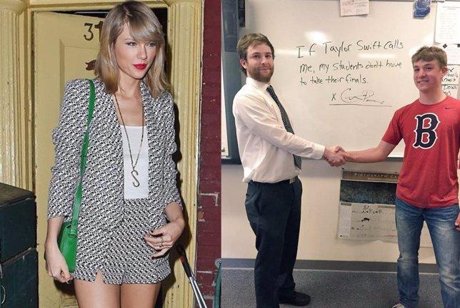Taylor Swift y profesor de estados unidos