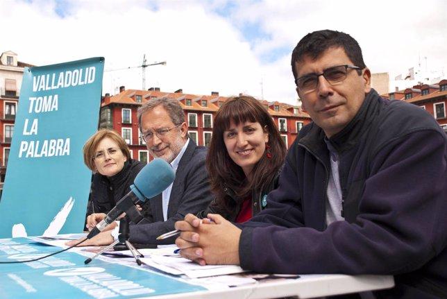 Los cuatro concejales electos de Valladolid Toma la Palabra