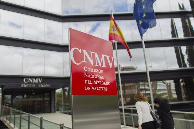 CNMV, fachada de la Comisión Nacional del Mercado de Valores