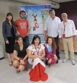 Algunos de los protagonistas del TAC participantes en la rueda de prensa