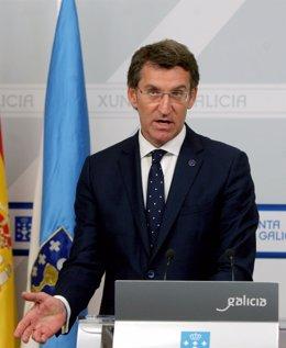 Feijóo comparece en rueda de prensa tras el Consello de la Xunta del 28 de mayo