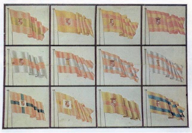 12 Bocetos De La Bandera De España