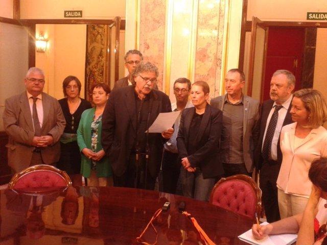 Diputados de CiU, PNV y el grupo Mixto