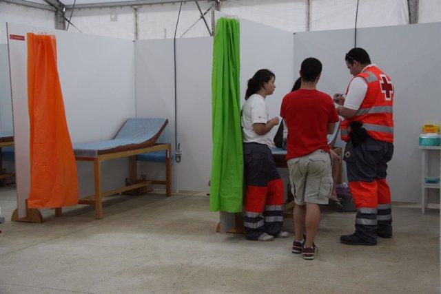 Atención de Cruz Roja en la feria