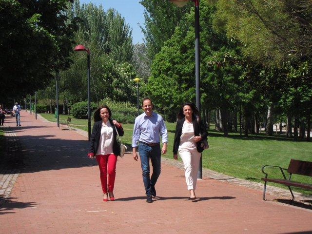 Luena, con Andreu y Arráiz