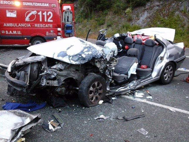 Accidente en Bera.