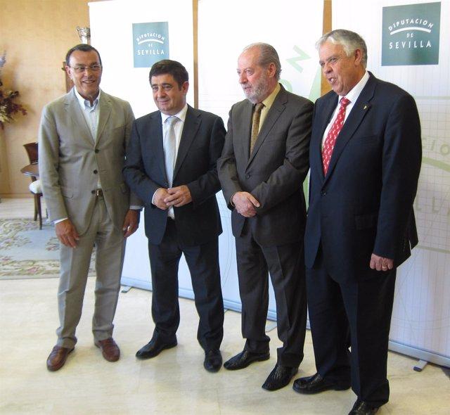 Ignacio Caraballo, Francisco Reyes, Fernando Rodríguez Villalobos y Ramón Ropero