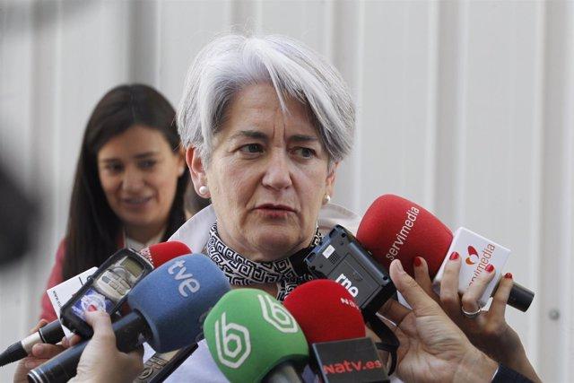 La vicepresidenta de Navarra, Lourdes Goicoechea en el Congreso