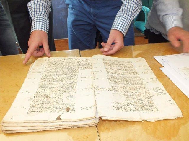 Legajos del siglo XVI recuperados en Guadix