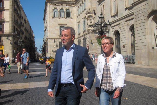 Jaume Collboni, Carmen Andrés (PSC)