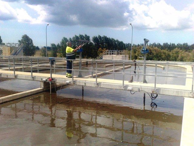 Depuración de agua en El Rocío.