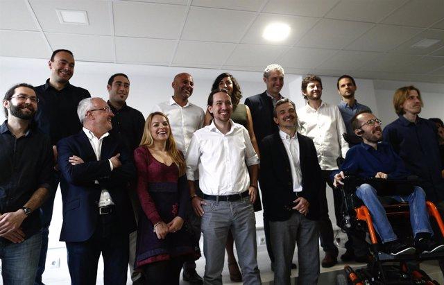 Pablo Iglesias se reúne con los 13 cabezas de lista de Podemos a las elecciones