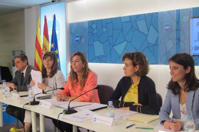 Enric Millo, María José García Cuevas, Alícia Sánchez-Camacho, Dolors Montserrat