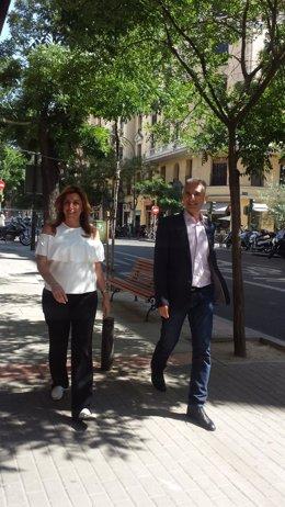La presidenta en funciones de la Junta de Andalucía, Susana Díaz