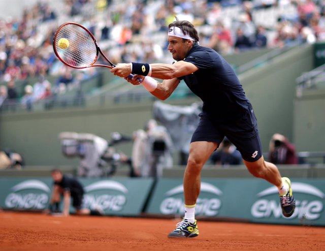 David Ferrer en Roland Garros