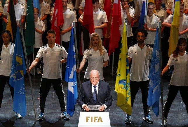 El actual presidente de la FIFA, Joseph Blatter