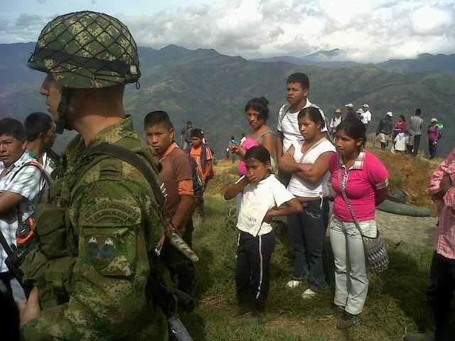 Desalojo llevado a cabo en Toribío, Cauca, por parte de indígenas al ejército