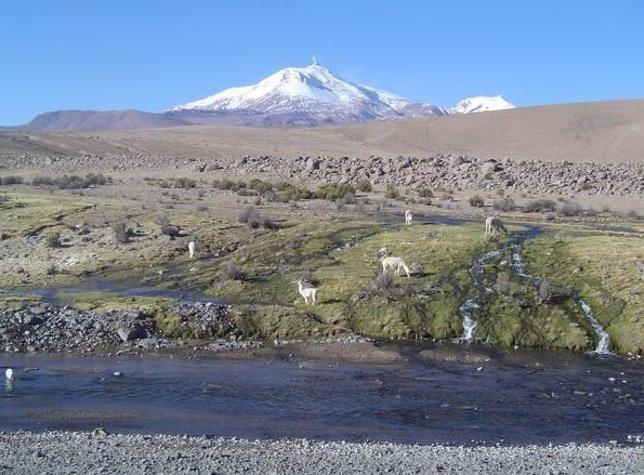 Volcán Guallatiri en Chile