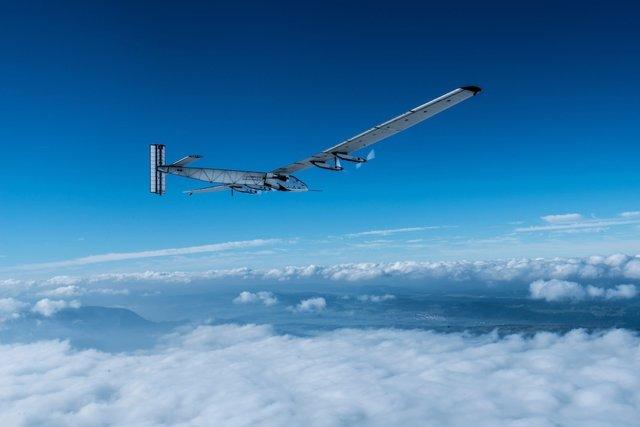 El 'solar Impulse' en pleno vuelo.