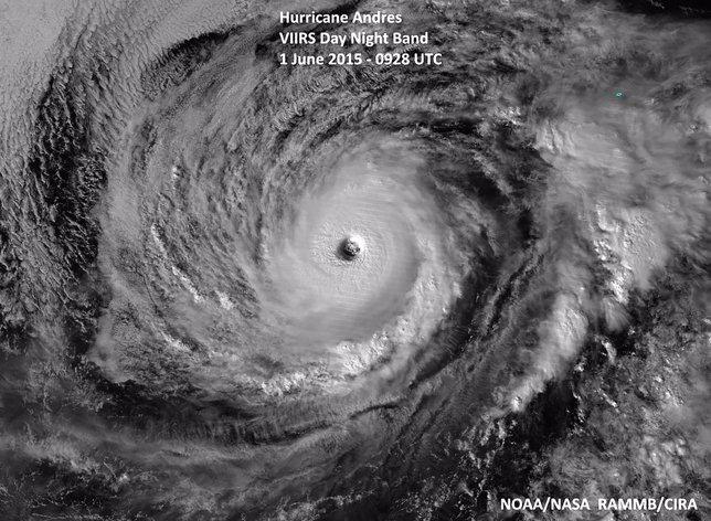 Imagen del huracán Andrés