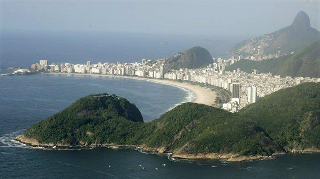 Copacabana beach en Río de Janeiro, Brasil