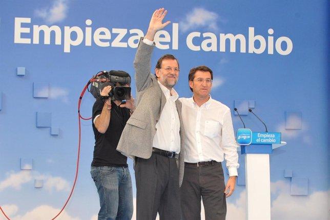 Rajoy Y Feijóo En A Coruña
