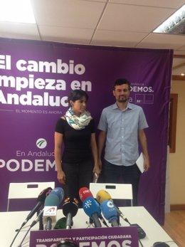 Teresa Rodríguez este martes en rueda de prensa