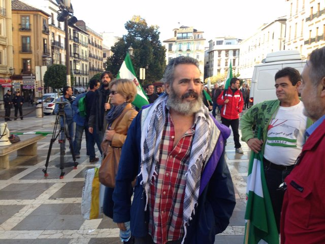 Sánchez Gordillo, a la entrada del TSJA