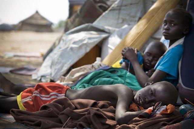 Niños refugiados en Sudan del sur