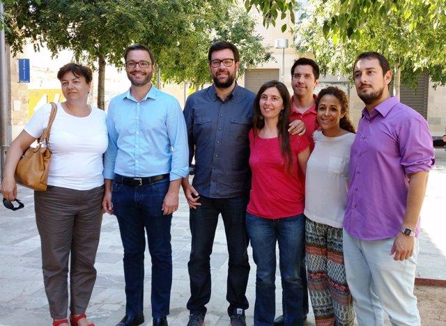 Representantes de MÉS, Som Palma y PSIB