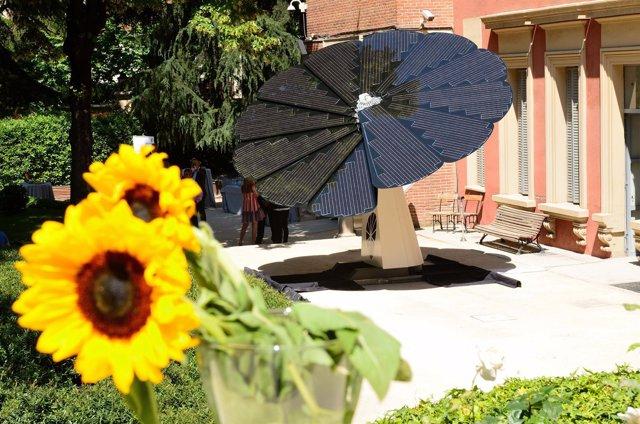 Panel solar con forma de girasol de Smartflower