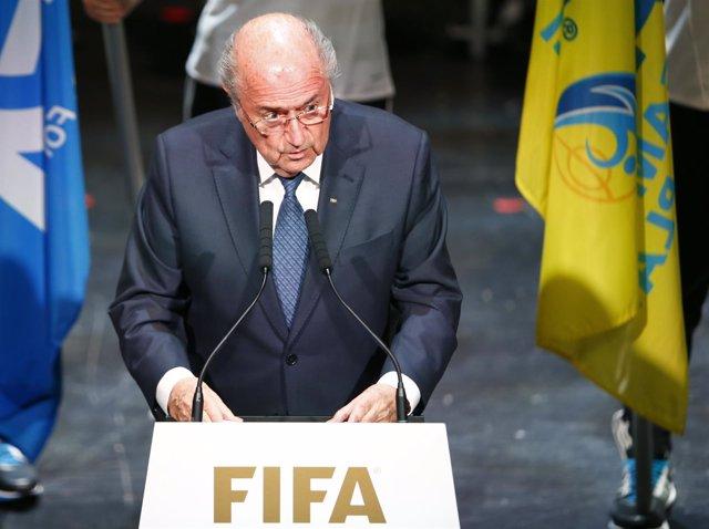 El presidente de la FIFA, Joseph Blatter