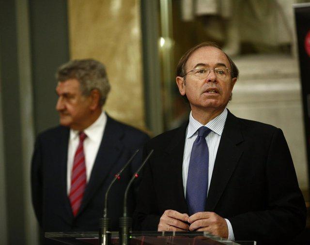 Jesús Posada y Pío García Escudero, presidentes del Congreso y del Senado
