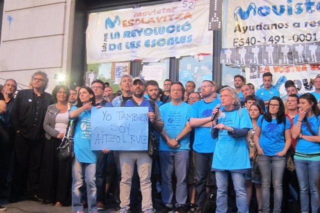 Partidos apoyan a huelguistas de Movistar