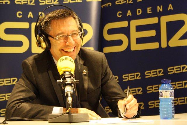 El presidente del Barcelona, Josep María Bartomeu, en la cadena SER