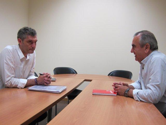 Imagen del encuentro entre González Tovar y Urralburu