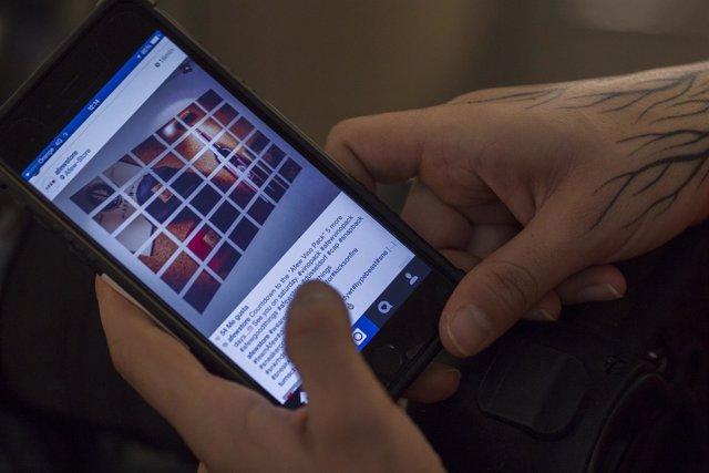 Redes sociales, internet, dispositivo, teléfono móvil, móviles.