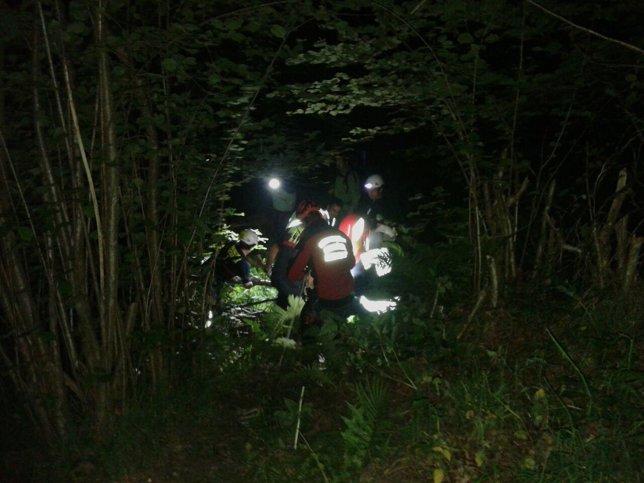 Rescate en el río Nansa