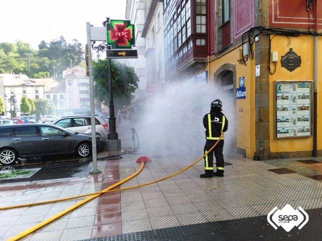 Controlada fuga de gas en Ribadesella