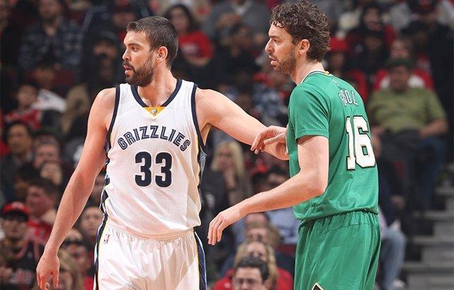 Pau y Marc Gasol en el Grizzlies-Bulls
